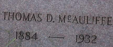 MCAULIFFE, THOMAS D. - Clinton County, Iowa | THOMAS D. MCAULIFFE