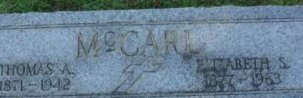 MCCARL, ELIZABETH S. - Clinton County, Iowa | ELIZABETH S. MCCARL