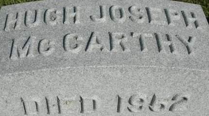 MCCARTHY, HUGH JOSEPH - Clinton County, Iowa | HUGH JOSEPH MCCARTHY