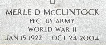 MCCLINTOCK, MERLE D. - Clinton County, Iowa | MERLE D. MCCLINTOCK