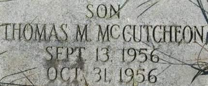 MCCUITCHEON, THOMAS M. - Clinton County, Iowa | THOMAS M. MCCUITCHEON