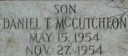 MCCUTCHEON, DANIEL T. - Clinton County, Iowa | DANIEL T. MCCUTCHEON