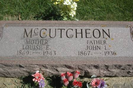 MCCUTCHEON, LOUISE E. - Clinton County, Iowa   LOUISE E. MCCUTCHEON