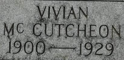 MCCUTCHEON, VIVIAN - Clinton County, Iowa | VIVIAN MCCUTCHEON