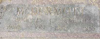 MCDERMOTT, H. NELLIE - Clinton County, Iowa | H. NELLIE MCDERMOTT