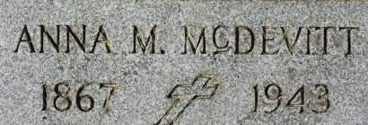 MCDEVITT, ANNA M. - Clinton County, Iowa | ANNA M. MCDEVITT