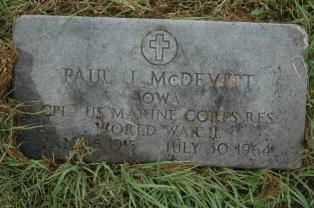 MCDEVITT, PAUL J. - Clinton County, Iowa | PAUL J. MCDEVITT