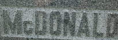 MCDONALD, FAMILY MONUMENT - Clinton County, Iowa | FAMILY MONUMENT MCDONALD