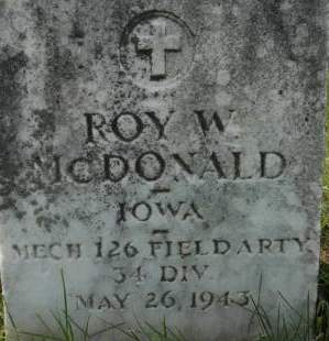 MCDONALD, ROY W. - Clinton County, Iowa | ROY W. MCDONALD