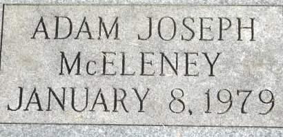 MCELENEY, ADAM JOSEPH - Clinton County, Iowa   ADAM JOSEPH MCELENEY
