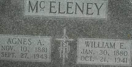 MCELENEY, AGNES A. - Clinton County, Iowa | AGNES A. MCELENEY