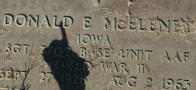 MCELENEY, DONALD E. - Clinton County, Iowa | DONALD E. MCELENEY