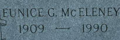 MCELENEY, EUNICE G. - Clinton County, Iowa   EUNICE G. MCELENEY