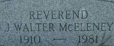 MCELENEY, J. WALTER REV. - Clinton County, Iowa   J. WALTER REV. MCELENEY