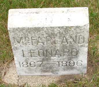 MCFARLAND, LEONARD - Clinton County, Iowa | LEONARD MCFARLAND