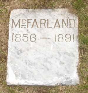 MCFARLAND, UNKNOWN - Clinton County, Iowa   UNKNOWN MCFARLAND