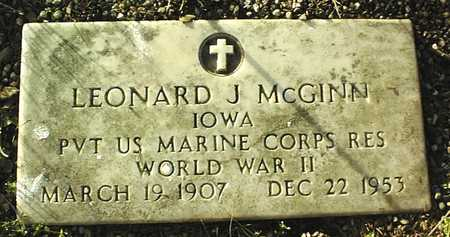 MCGINN, LEONARD J. - Clinton County, Iowa   LEONARD J. MCGINN