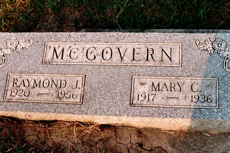 MCGOVERN, MARY C. - Clinton County, Iowa | MARY C. MCGOVERN