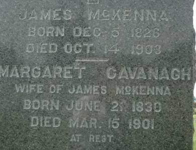 CAVANAGH MCKENNA, MARGARET - Clinton County, Iowa | MARGARET CAVANAGH MCKENNA