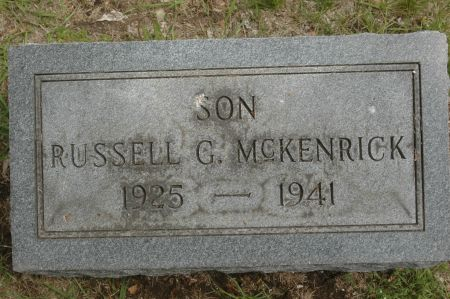 MCKENRICK, RUSSELL G. - Clinton County, Iowa   RUSSELL G. MCKENRICK