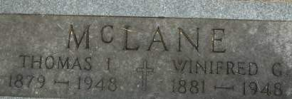 MCLANE, WINIFRED G. - Clinton County, Iowa | WINIFRED G. MCLANE
