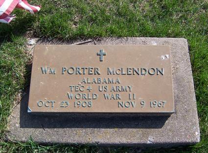 MCLENDON, WILLIAM PORTER - Clinton County, Iowa | WILLIAM PORTER MCLENDON