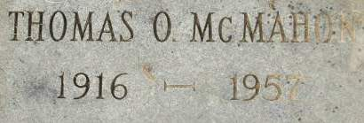MCMAHON, THOMAS O. - Clinton County, Iowa | THOMAS O. MCMAHON