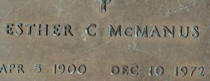 MCMANUS, ESTHER C. - Clinton County, Iowa   ESTHER C. MCMANUS