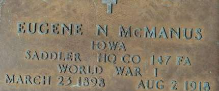 MCMANUS, EUGENE N. - Clinton County, Iowa   EUGENE N. MCMANUS