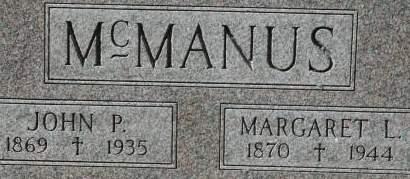 MCMANUS, MARGARET L. - Clinton County, Iowa | MARGARET L. MCMANUS