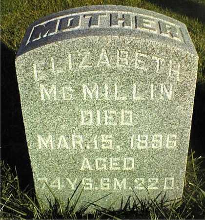 MCMILLIN, ELIZABETH - Clinton County, Iowa | ELIZABETH MCMILLIN