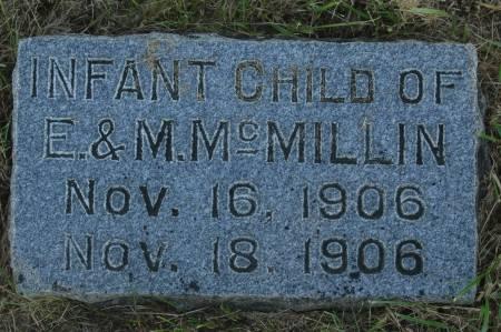MCMILLIN, INFANT - Clinton County, Iowa | INFANT MCMILLIN