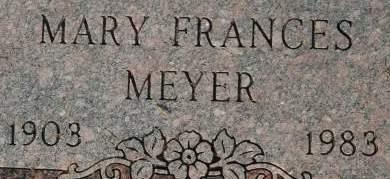 MEYER, MARY FRANCES - Clinton County, Iowa | MARY FRANCES MEYER