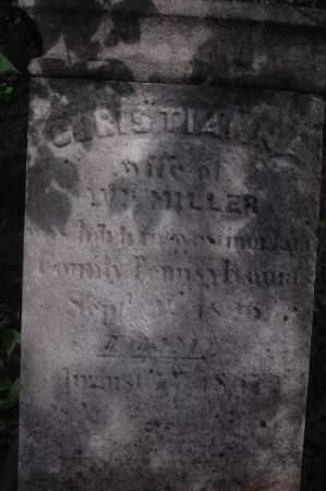 MILLER, CHRISTIANNA - Clinton County, Iowa   CHRISTIANNA MILLER