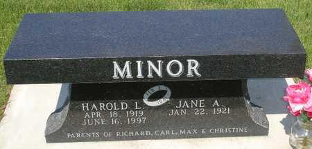 MINOR, HAROLD L. - Clinton County, Iowa | HAROLD L. MINOR