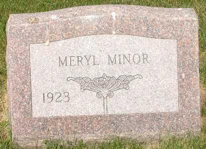 MINOR, MERYL - Clinton County, Iowa | MERYL MINOR