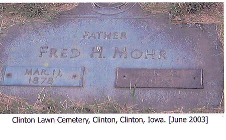 MOHR, FRED H. - Clinton County, Iowa | FRED H. MOHR