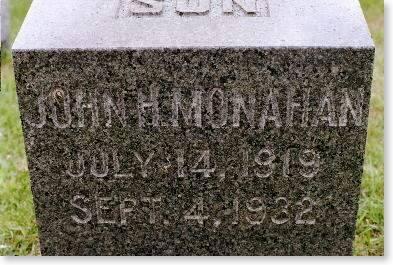 MONAHAN, JOHN H. - Clinton County, Iowa | JOHN H. MONAHAN