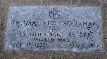 MONAHAN, THOMAS LEO - Clinton County, Iowa | THOMAS LEO MONAHAN