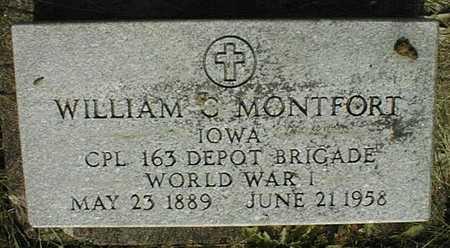 MONFORT, WILLIAM C. - Clinton County, Iowa   WILLIAM C. MONFORT