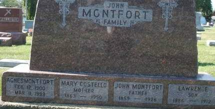 MONTFORT, MARY - Clinton County, Iowa | MARY MONTFORT