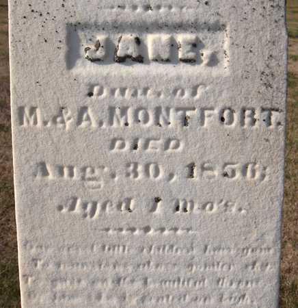 MONTFORT, JANE - Clinton County, Iowa | JANE MONTFORT