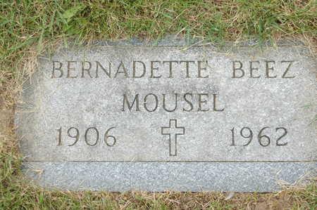 BEEZ MOUSEL, BERNADETTE - Clinton County, Iowa | BERNADETTE BEEZ MOUSEL