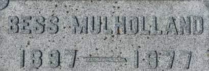 MULHOLLAND, BESS - Clinton County, Iowa | BESS MULHOLLAND