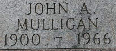 MULLIGAN, JOHN A. - Clinton County, Iowa | JOHN A. MULLIGAN