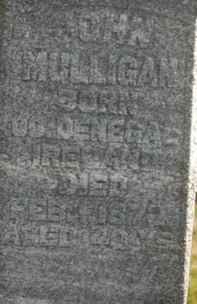 MULLIGAN, JOHN - Clinton County, Iowa   JOHN MULLIGAN