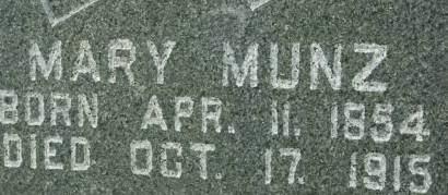 MUNZ, MARY - Clinton County, Iowa   MARY MUNZ
