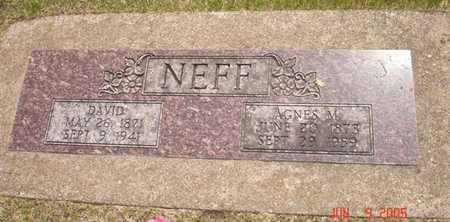 NEFF, AGNES M. - Clinton County, Iowa | AGNES M. NEFF