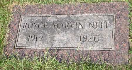 NEFF, ROYCE MARVIN - Clinton County, Iowa | ROYCE MARVIN NEFF