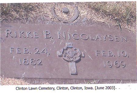 NICOLAYSEN, RIKKE B. - Clinton County, Iowa | RIKKE B. NICOLAYSEN
